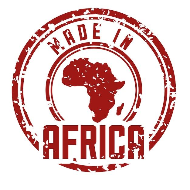 彼自身の地図デザインによって代表されるアフリカ Premiumベクター