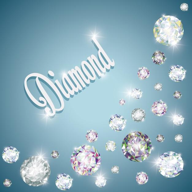 Алмазная концепция с дизайном значков Premium векторы