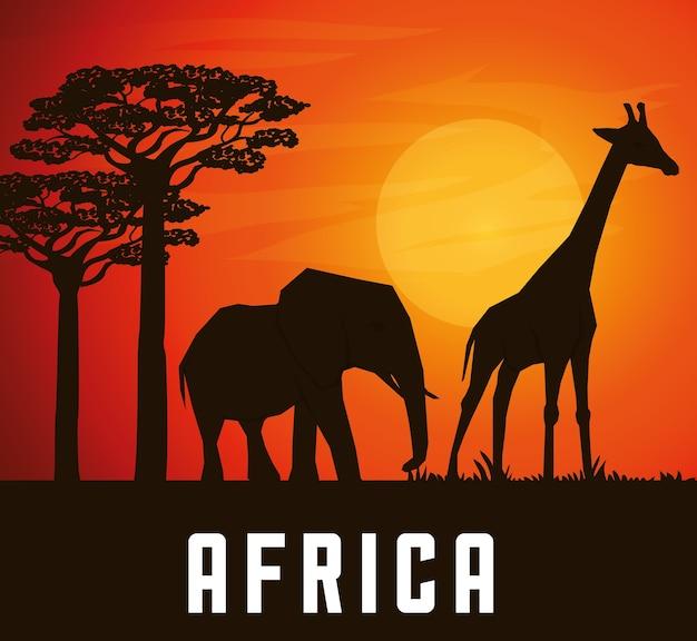 アイコンデザインのアフリカのコンセプト Premiumベクター