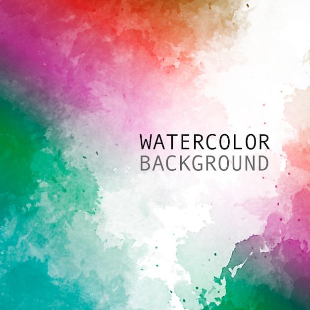 テキスト用のスペースと虹色の水彩画の背景 無料ベクター