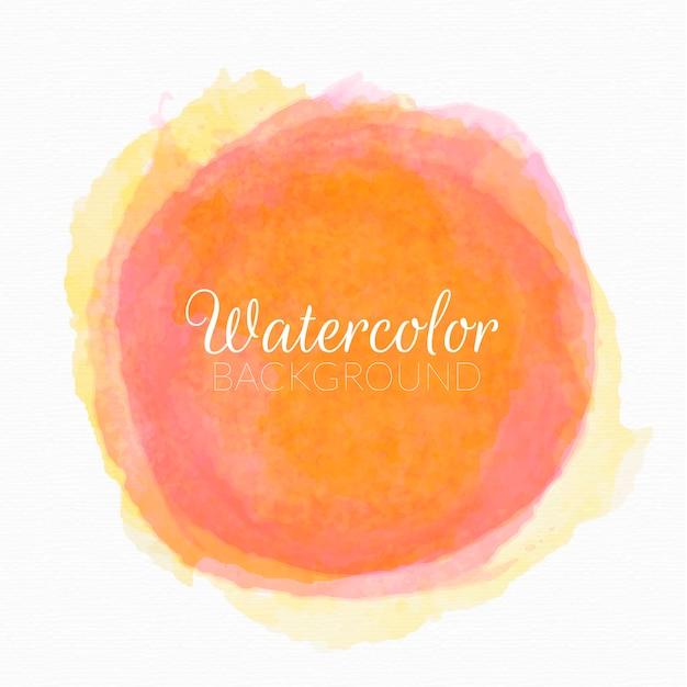 手描きの水彩画サークルベクトル 無料ベクター