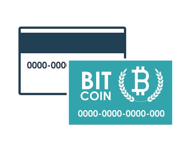 Концепция глобальной экономики с дизайном иконки биткойнов Premium векторы