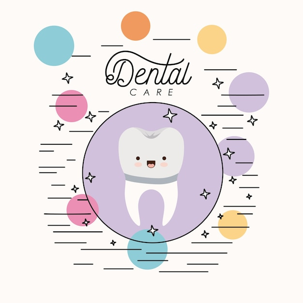 かわいい似顔絵歯科歯科治療 Premiumベクター