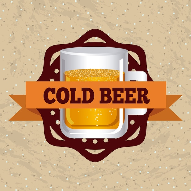 ビールのデザイン Premiumベクター