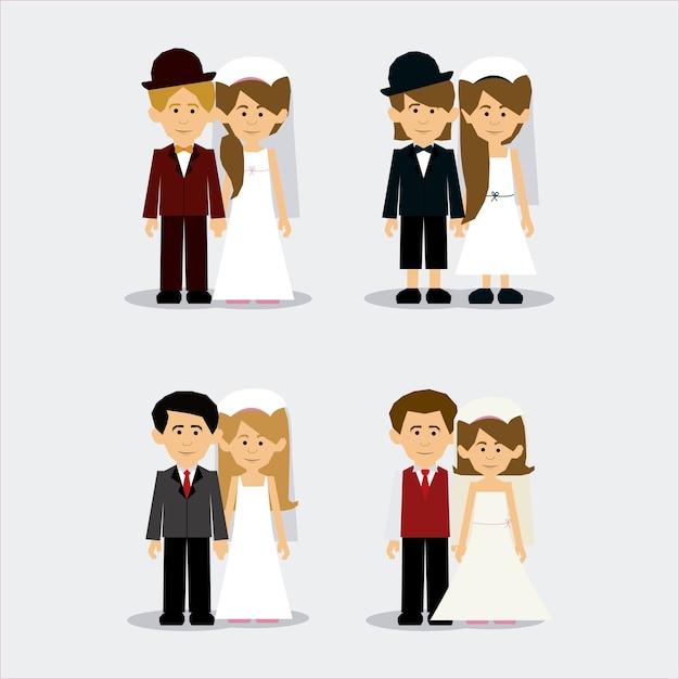 結婚式のデザイン Premiumベクター