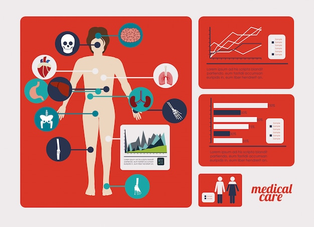 Медицинский дизайн Premium векторы