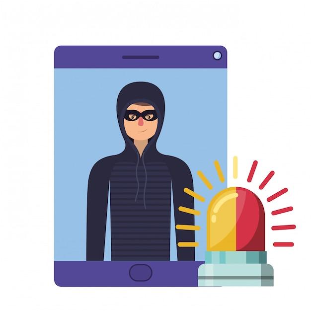 ハッカー盗む情報アバターキャラクター Premiumベクター