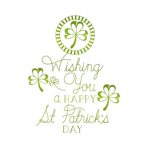 Желаю вам счастливого дня святого патрика Premium векторы