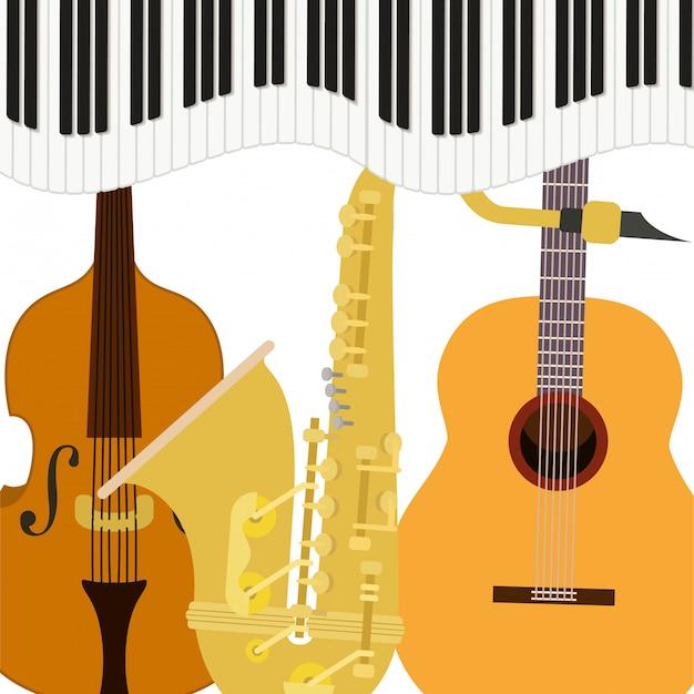 Музыкальные инструменты Premium векторы