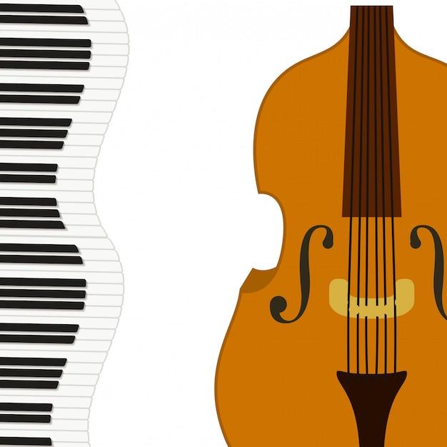 Скрипка музыкального инструмента Premium векторы