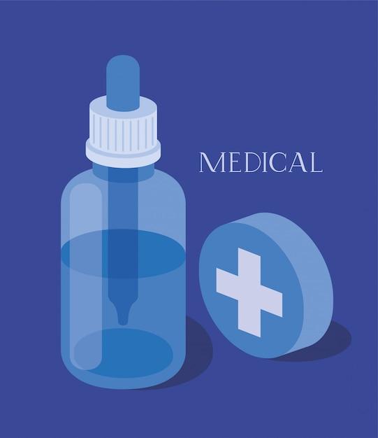 薬瓶薬スポイト Premiumベクター