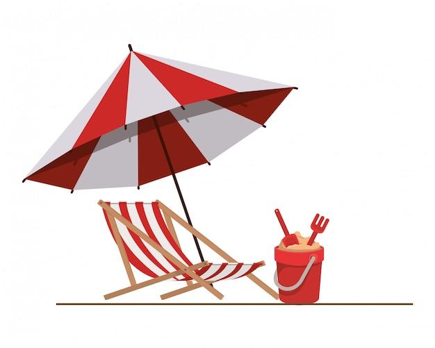 夏用ビーチパラソルストライプ 無料ベクター