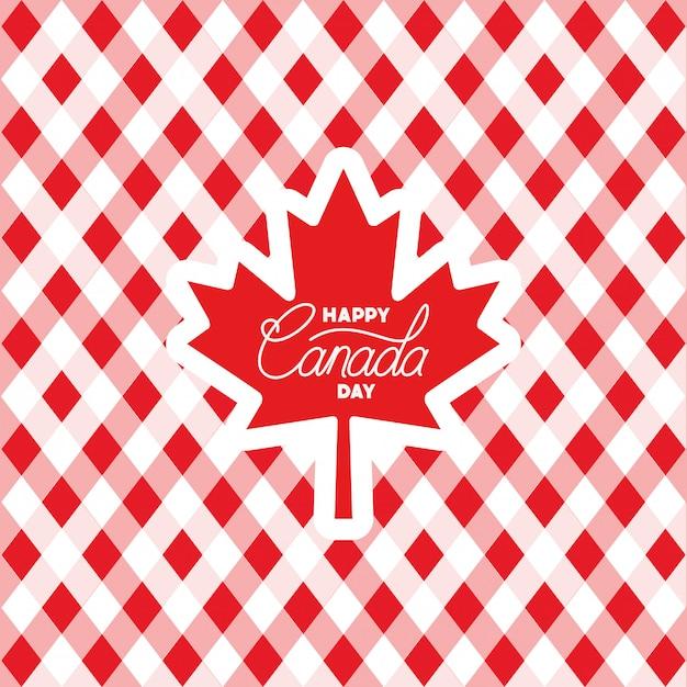 カエデの葉カードとカナダの日 無料ベクター