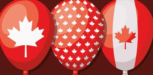 カエデの葉とカナダの日 無料ベクター