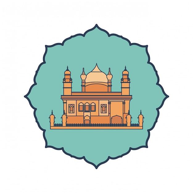 アムリトサル黄金寺院とインドの独立記念日 Premiumベクター