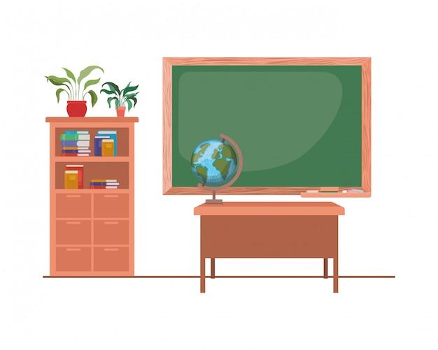 教室での学校の黒板 Premiumベクター