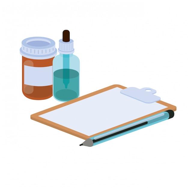白の医学オブジェクト Premiumベクター