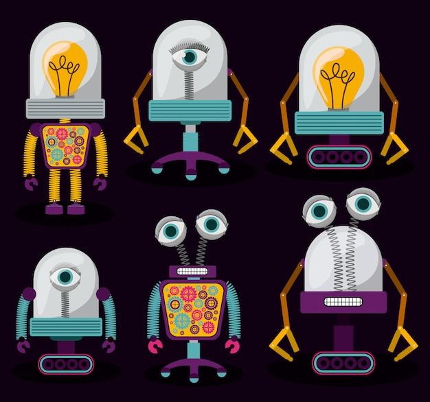 ロボットセット Premiumベクター