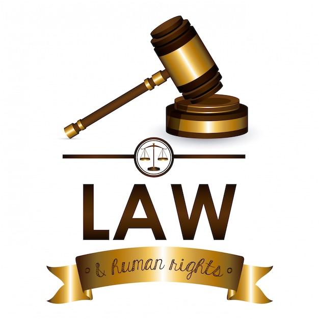 法と人権 Premiumベクター