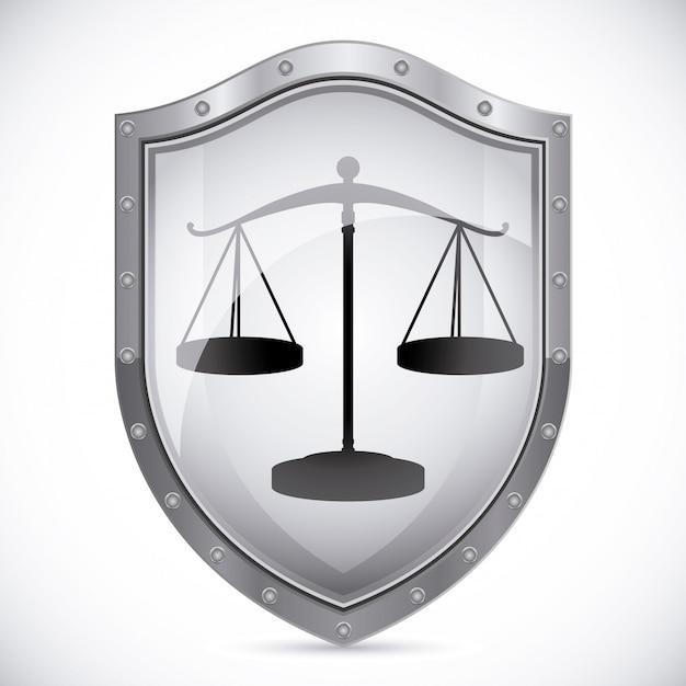 正義の盾の紋章 Premiumベクター