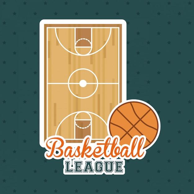 バスケットボールのデザイン Premiumベクター