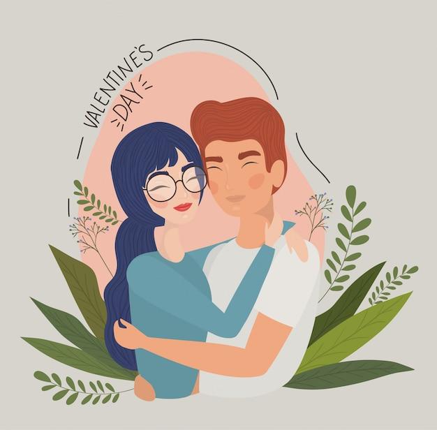Пара женщина и мужчина рисунок, отношения день святого валентина романтика праздника и вместе иллюстрации Premium векторы