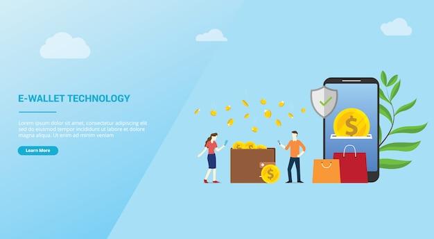 Концепция платежа по технологии электронного кошелька для сайта-шаблона оформления сайта Premium векторы