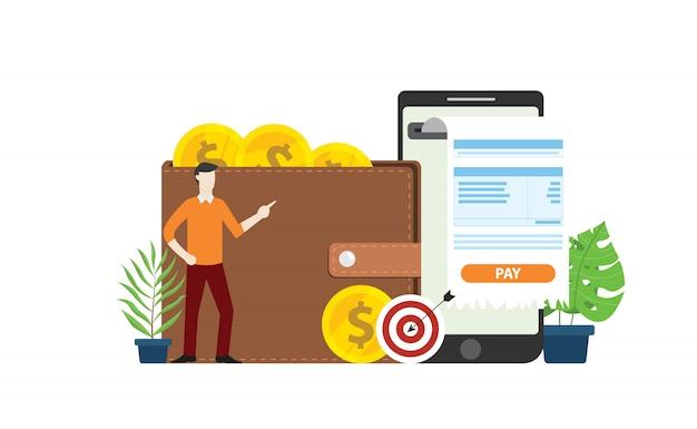 モバイルオンライン決済技術 Premiumベクター