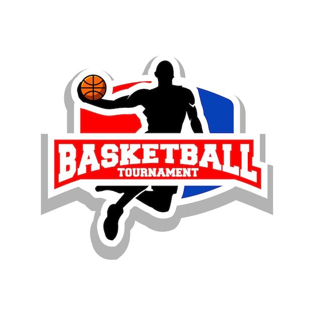 バスケットボールのロゴ Premiumベクター