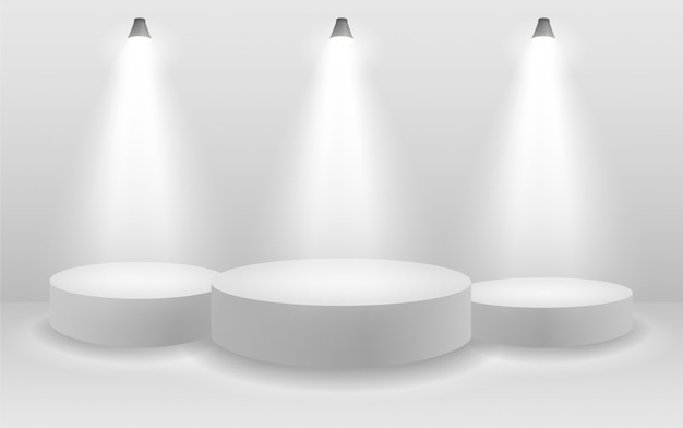 Подиум с прожектором Premium векторы