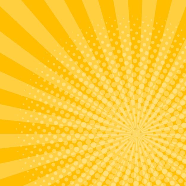 Лучи фон с эффектом полутонов Premium векторы