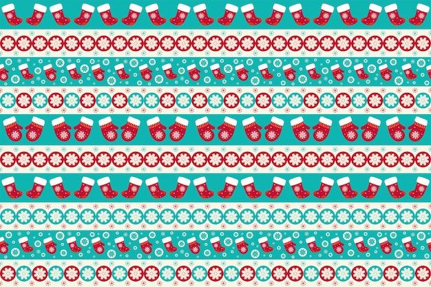 クリスマスのシームレスパターン Premiumベクター