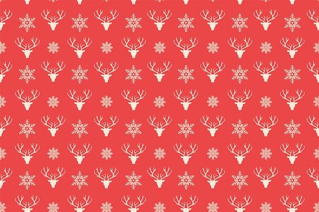 Красный с рождеством шаблон бесшовные Бесплатные векторы