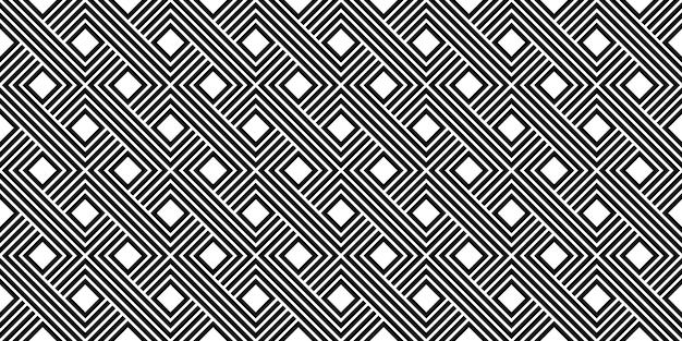 Черно-белая полоса минимальная старинный бесшовный узор вектор шаблон Premium векторы