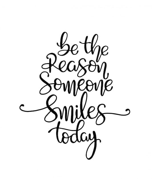 Ответить причина, по которой кто-то улыбается сегодня. векторная иллюстрация Premium векторы