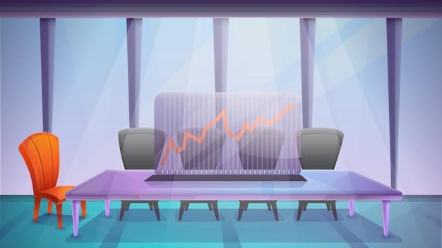 オフィス会議室、ベクトルイラスト Premiumベクター