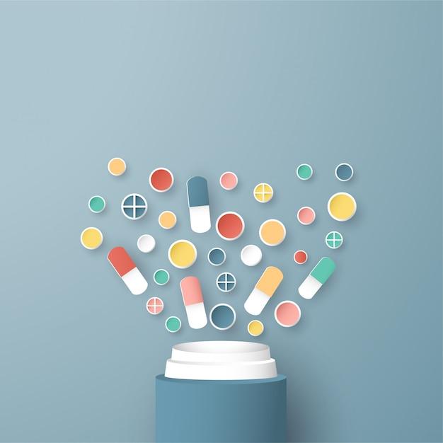 Векторные иллюстрации в концепции медицинского страхования. Premium векторы