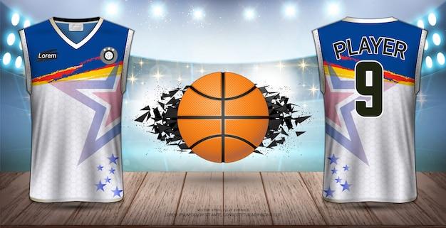 バスケットボールユニフォーム Premiumベクター
