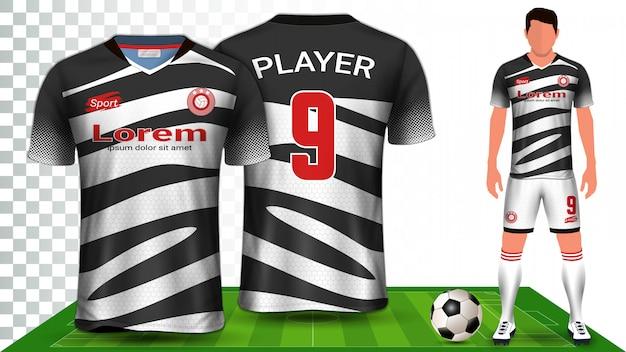 Футбол джерси, спортивная рубашка или футбольная форма униформа презентация Premium векторы