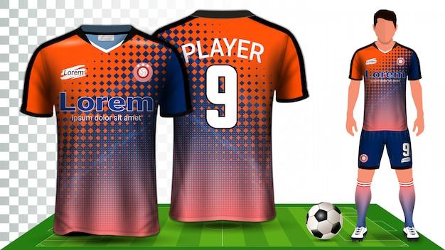 Шаблон макета для футбольной формы Premium векторы