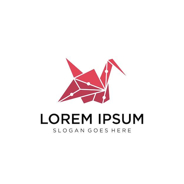バードポリゴンのロゴ Premiumベクター