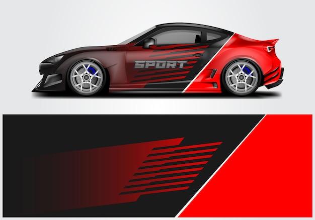 スポーツカーラップの設計 Premiumベクター