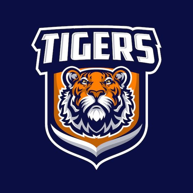 Тигр талисман логотип спорт. Premium векторы