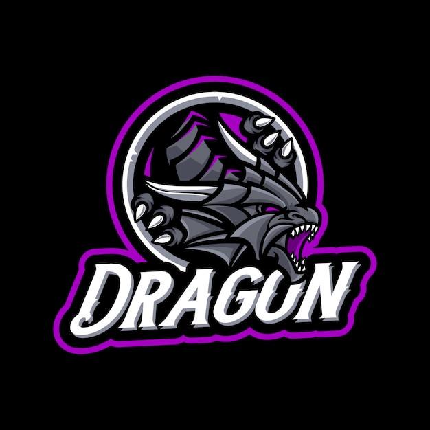 Талисман дракона в темном фоне Premium векторы
