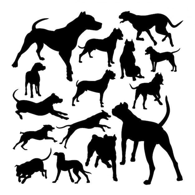 道後アルゼンチン犬の動物のシルエット Premiumベクター