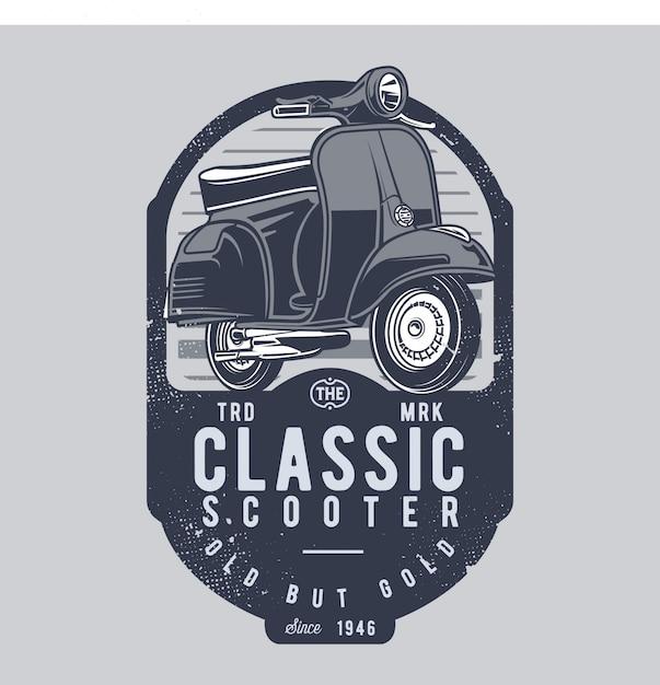 Классический скутер Premium векторы