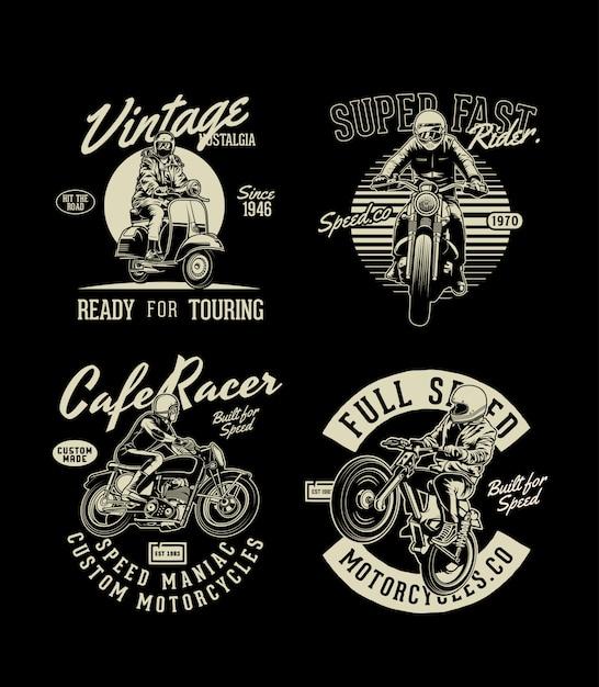 Сборник мотоциклов Premium векторы