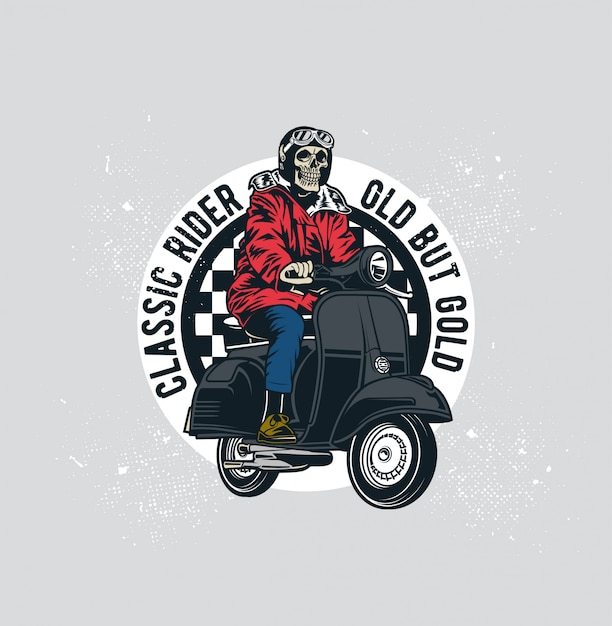 クラシックスクーター Premiumベクター