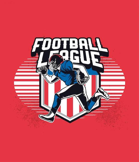 フットボールリーグ Premiumベクター
