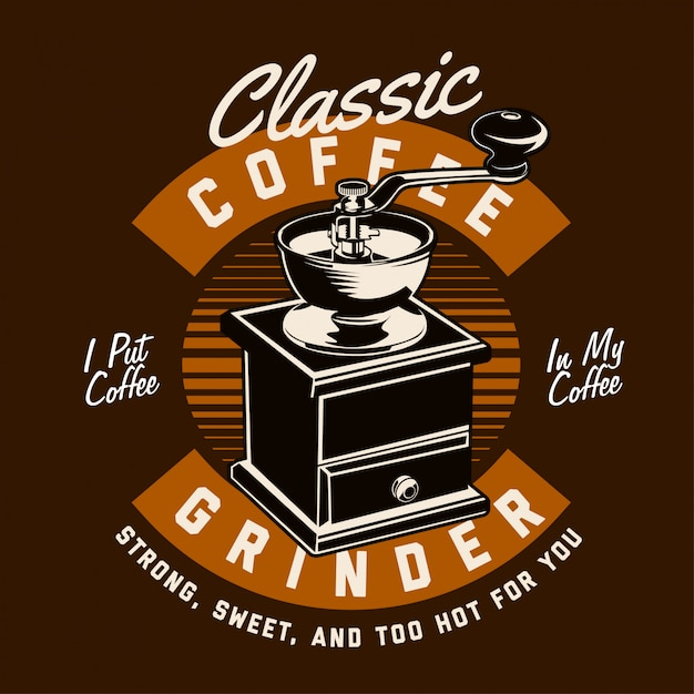 Классическая кофемолка Premium векторы